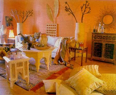 Африканский стиль - экзотика в интерьере кухни.