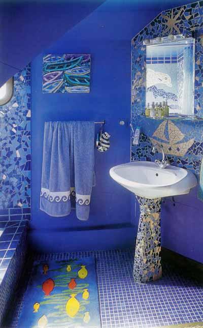 Дизайн ванной морская тематика