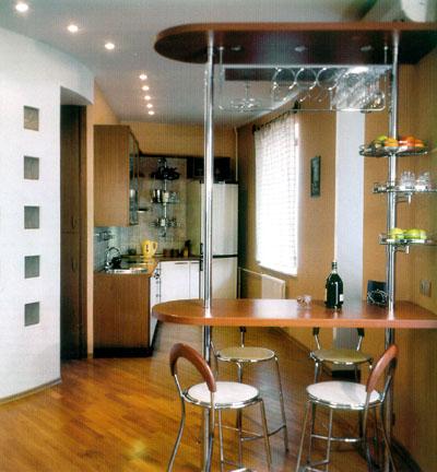 кухня с гостиной фото