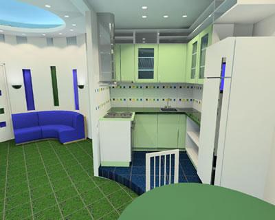 Интерьер круглой гостиной