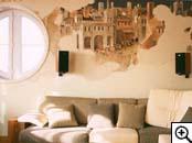 Дизайн интерьера и архитектура.  Фрески в интерьере - это творческий...